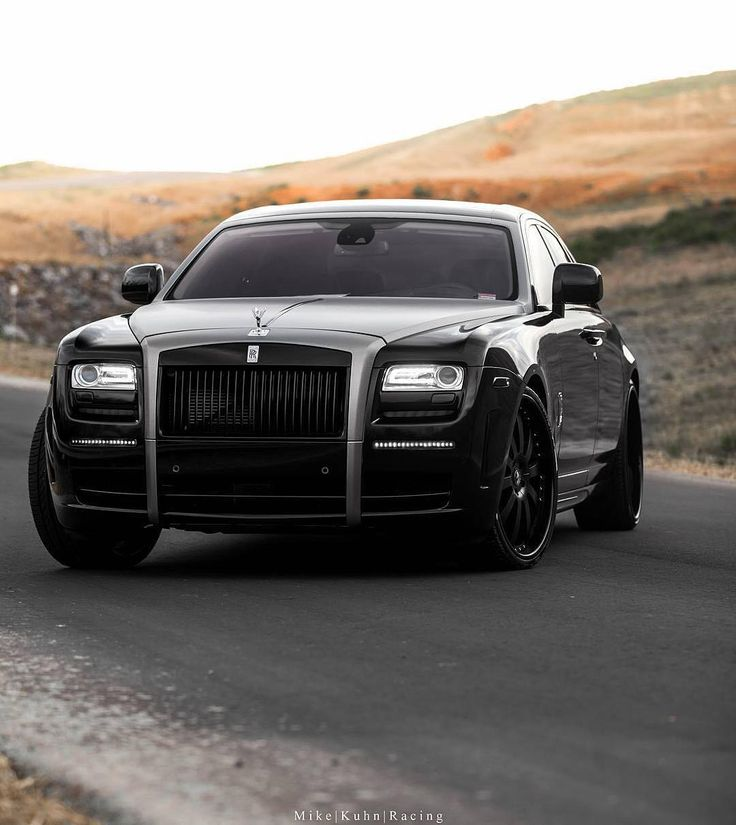 Repost via Instagram: @ryanlochte's Rolls Royce Ghost with @forgiato @wheels | Photo by @mikekuhnracing | #blacklist #rollsroyce #ghost by black_list