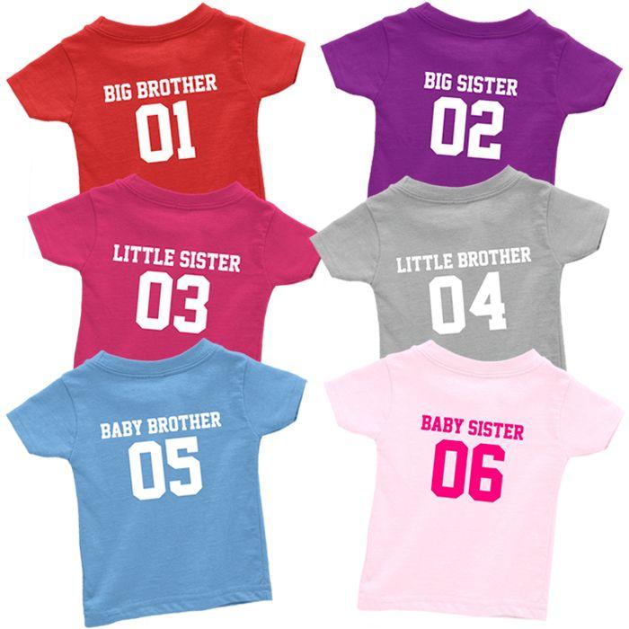 Team Sibling T Shirt Set (6 piece)