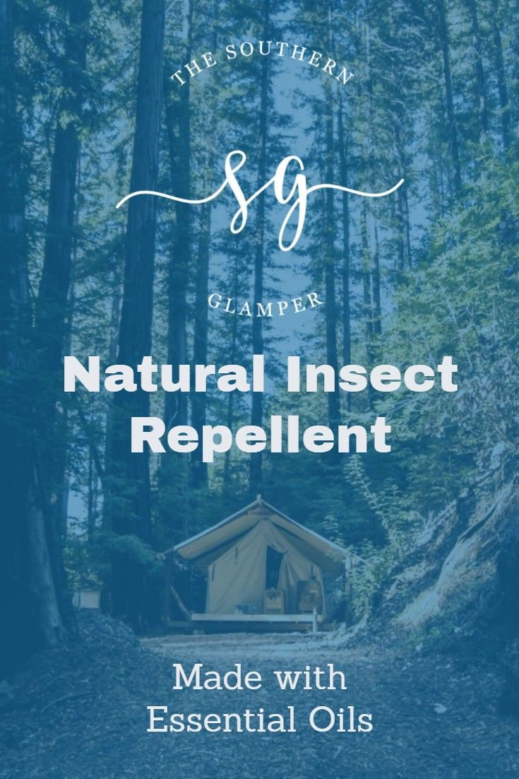 Natural insect repellent made with essential oils.