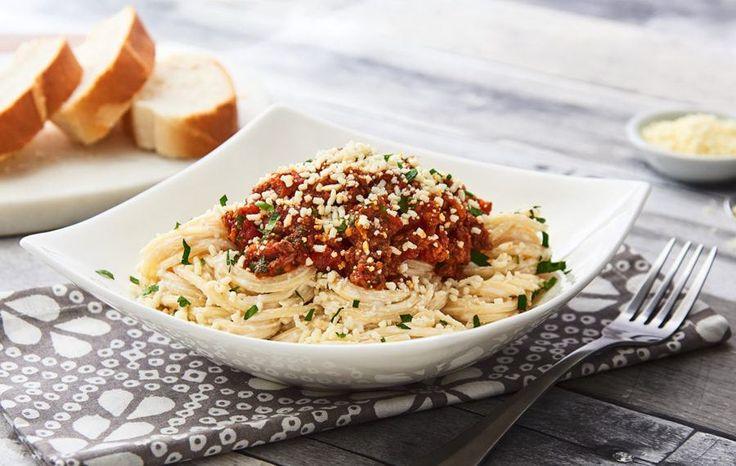Espagueti con Chorizo y Carne de Res Molida