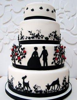 Wedding Silhouettes: Wedding cake