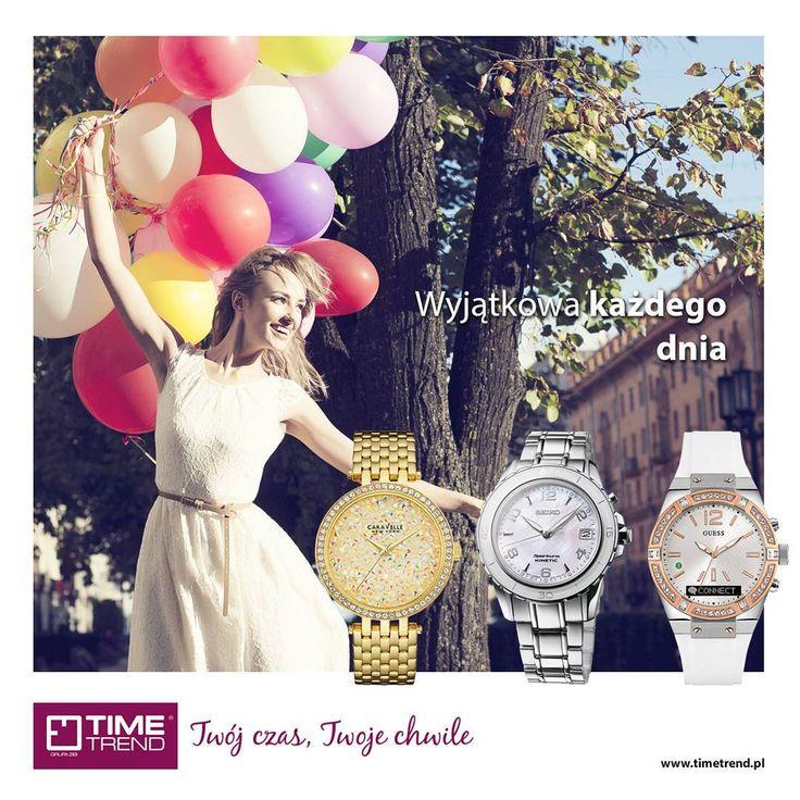 Dzień Kobiet już za tydzień ☺  Zegarek to idealny prezent na taką okazję. Z powodzeniem może zastąpić biżuterię i być subtelnym dodatkiem na wyjątkowe okazje.  Więcej inspiracji na: bit.ly/InspiracjeNaDzienKobiet  Lub na www.timetrend.pl  #dzienkobiet #8marca #kobieta #wyjątkowa #guess #caravelle #caravellenewyork #seiko #zegarek #zegarki #prezent #prezenty #moda #styl #timetrend