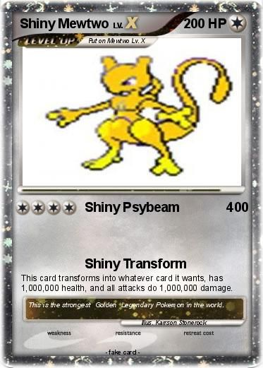 All Shiny Legendary Pokemon | Pokémon Shiny Mewtwo 27 27 - Shiny Psybeam 400 - My Pokemon Card