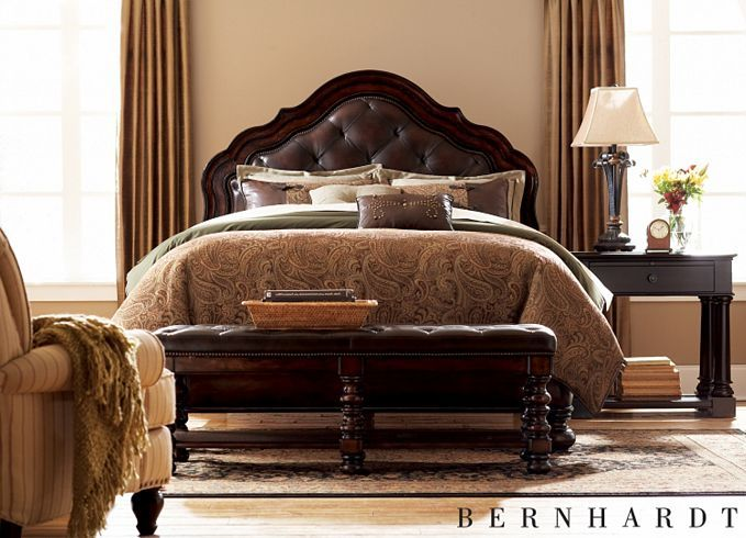 Havertys Bayhall Master Bedroom Collection By Bernhardt Features The Look Of An English Estate And The Charm Of A French Chateau Basket Weave Fa