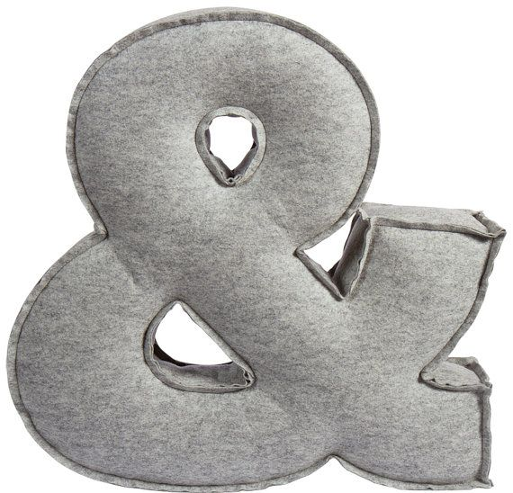 Ampersand pillow felt pillow