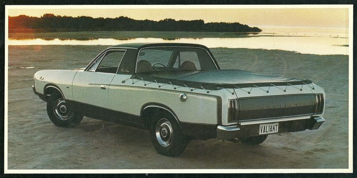 https://flic.kr/p/8537Z3 | Chrysler Town and Country ute | Note the T&C badge on the roof, describing this special model of the Valiant coupe utility.  It's likely the same badge that adorned the fake wood North American station wagons of the late seventies.