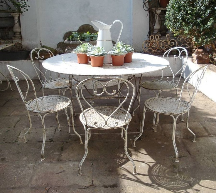 Rod Iron Table And Chairs Part - 46: Large Round French Iron Table In Furniture From Appley Hoare