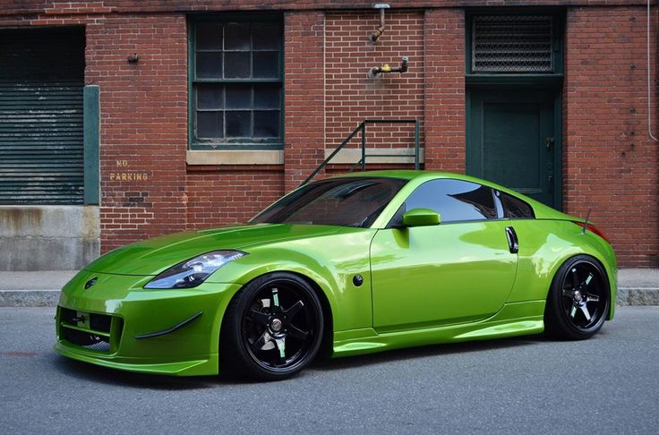 Green Nissan 350z Nissan 350Z 370Z Pinterest