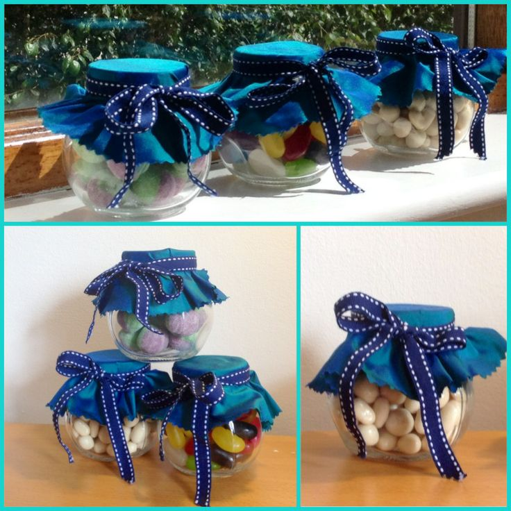 Wee favours we made ourselves! Jars are from Ikea, purchased cloth and ribbon from The Cloth Shop (South King St. Dublin) and sweets from the Mr. Simms Olde Sweet Shop on Dame St.