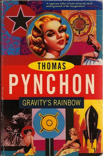 Thomas Pynchon. Gravity's Rainbow. Vintage UK edition. Jacket design by Paul Burgess.