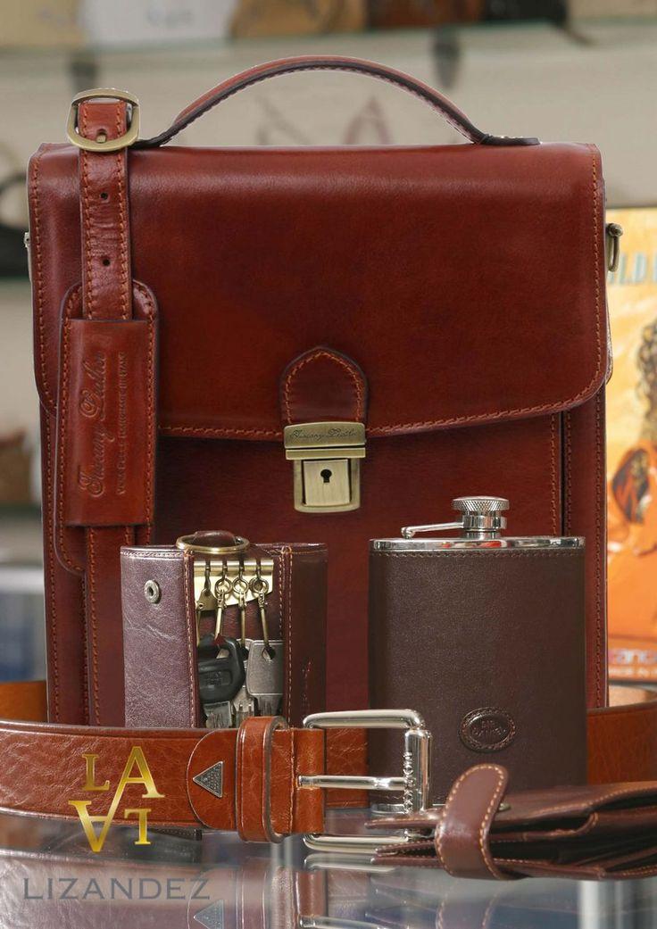 The men's bag that carry's it all, keys, wallet hip flask