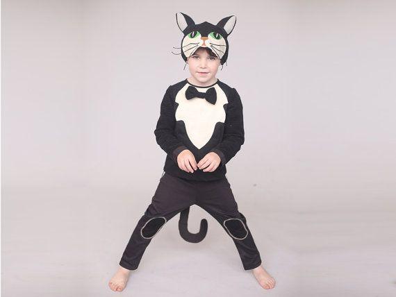 Cat hat boys Halloween costume Kids role play by inbalcarmistudio