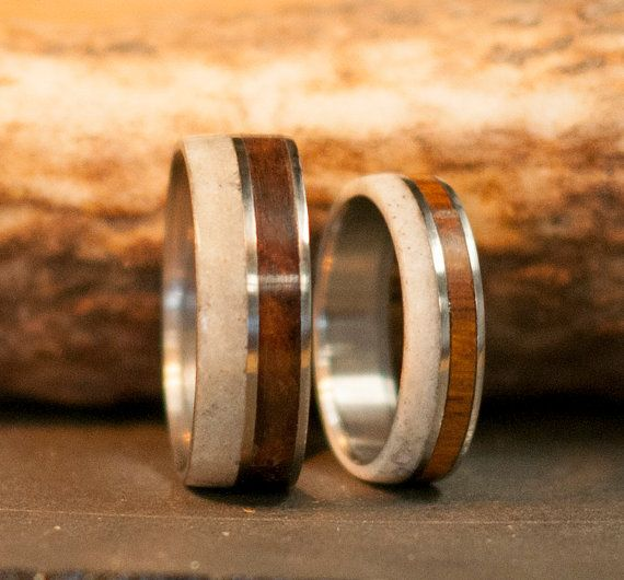 Mens Wedding Band Womens Wedding Band Matching by StagHeadDesigns