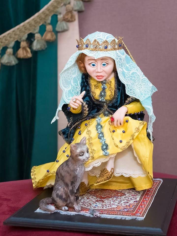 В гостях у Королевы , иллюстрация к  Стишкам  Матушки Гусыни by ArtDollsLL on Etsy