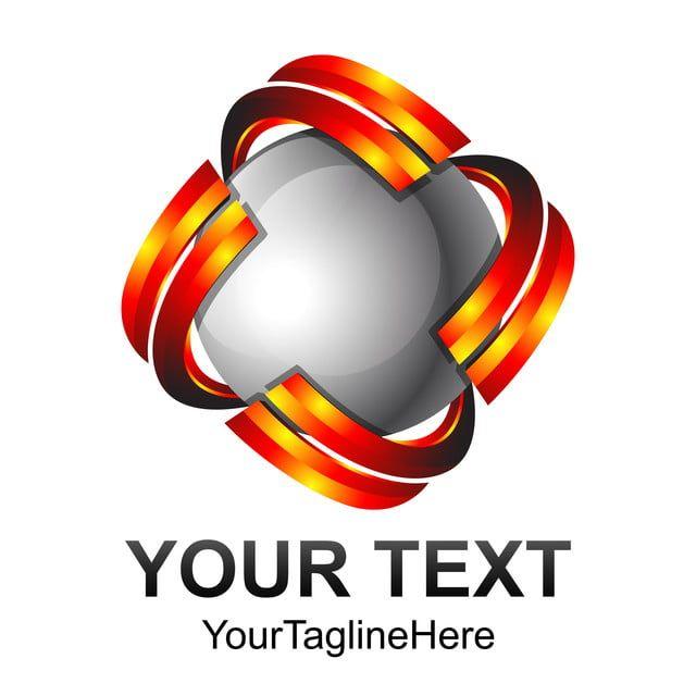 المجال الإبداعي خلاصة 3d ناقلات تصميم شعار قالب المنت Tech Company Logos Company Logo Vodafone Logo