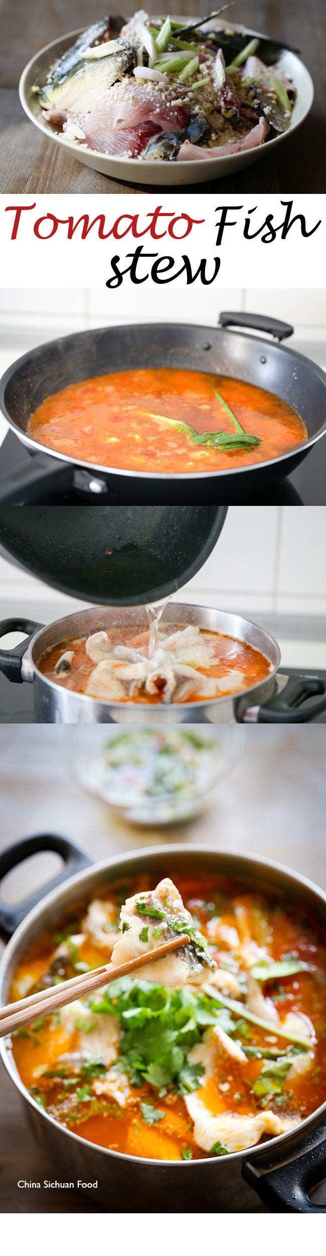 #tomato #fish stew, a non-spicy Szechuan style great flavor fish stew as long as you get high quality fish and tomatoes