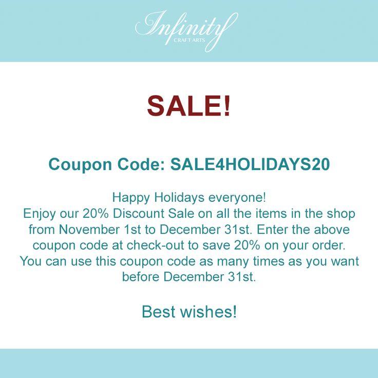 #etsy #coupon #code #couponcode #happyholidays #infinitycraftarts