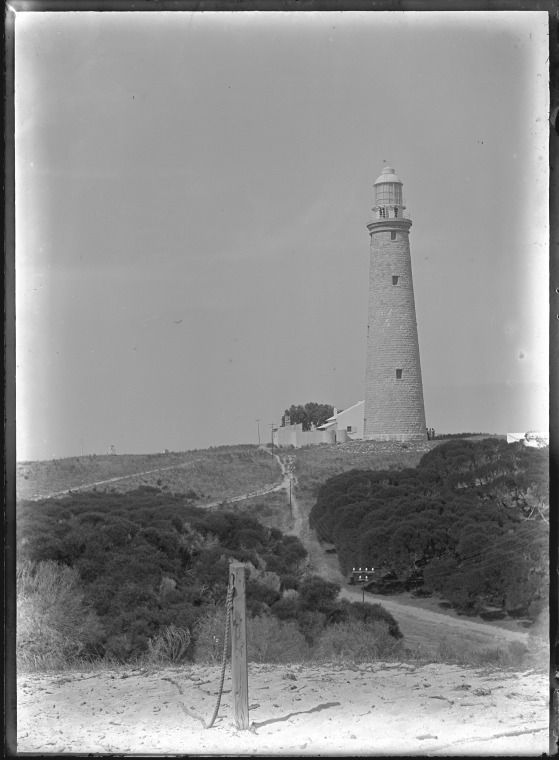 154050PD: The Main Lighthouse, Rottnest Island, 20 January 1910.  http://encore.slwa.wa.gov.au/iii/encore/record/C__Rb4571149__SLighthouses%20--%20Western%20Australia%20__Ff%3Afacetmediatype%3Av%3Av%3APhotograph%3A%3A__P0%2C10__Orightresult__U__X3?lang=eng&suite=def