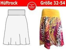 Damenrock mit Bündchen, Hüftrock, Rock Schnittmuster und Nähanleitung