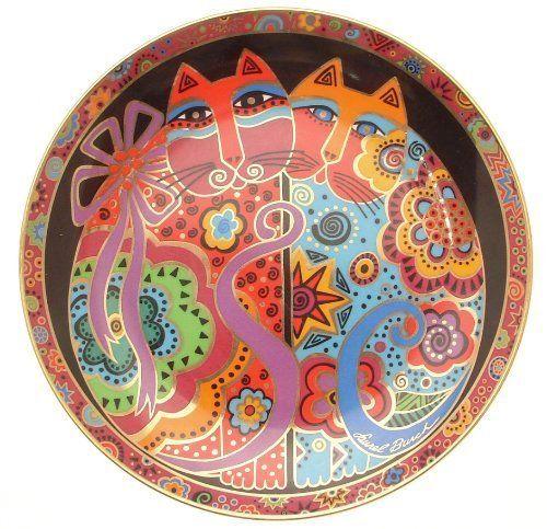 Коллектор пластины Франклин Минт щека к щеке Лорел Burch кошка пластины CP2230 - Главная Декор