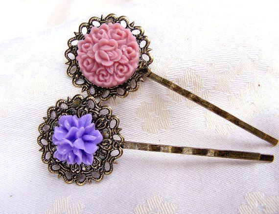 Violet and purple flower Mother's day by artemisartdesign on Etsy, $10.00
