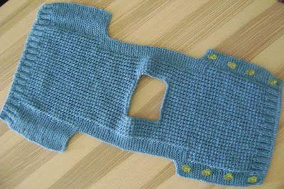 Silvana Tim - Tejido con dos Agujas, Crochet, Recetas de Cocina: CHALECO para bebes o niños. Tejido con dos agujas # 335