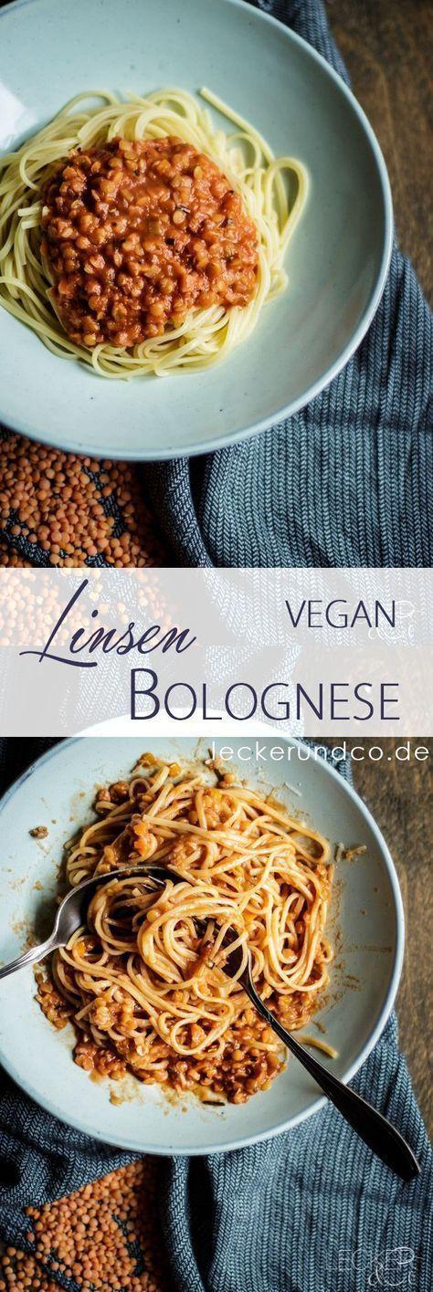 Pasta with Lentil Bolognese  – Vegetarisch