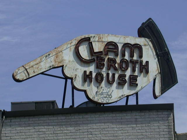 Clam Broth House - 1940's neon sign - Hoboken NJ: Photos, Clams, Time, Neon Signs, Antique Signs, Vintage Signs, Advertising Signs, 1940S Neon