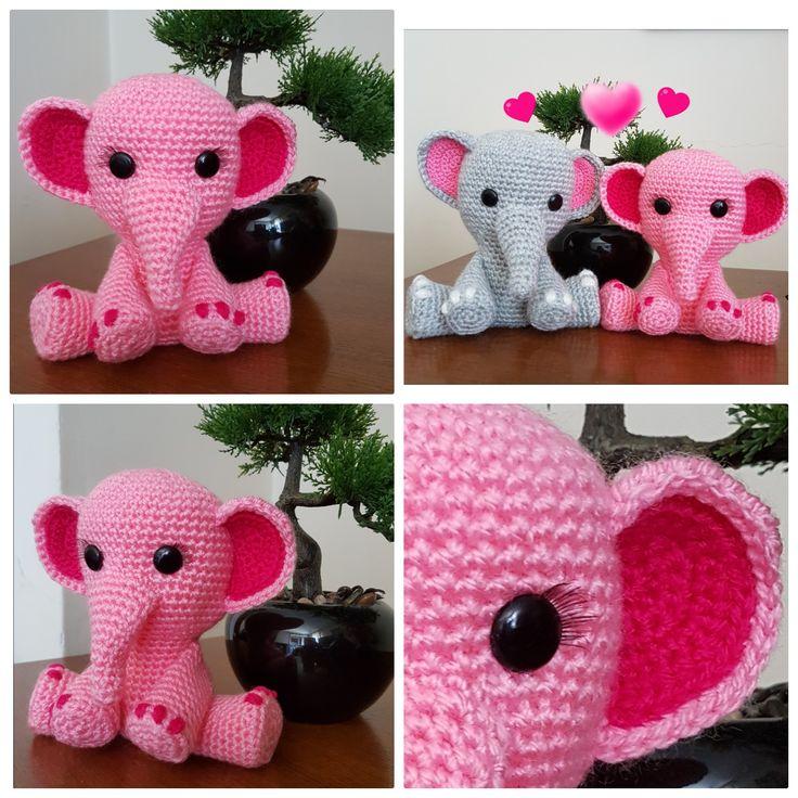 Elefante; Elephant; amigurumi