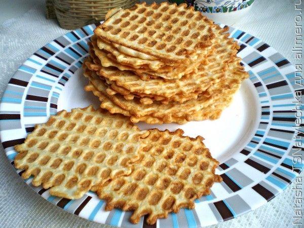 Хрустящие вафли с сыром / Рецепты с фото