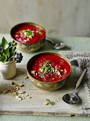 I Quit Sugar - Beetroot & Sweet Potato Soup by Madeline Shaw