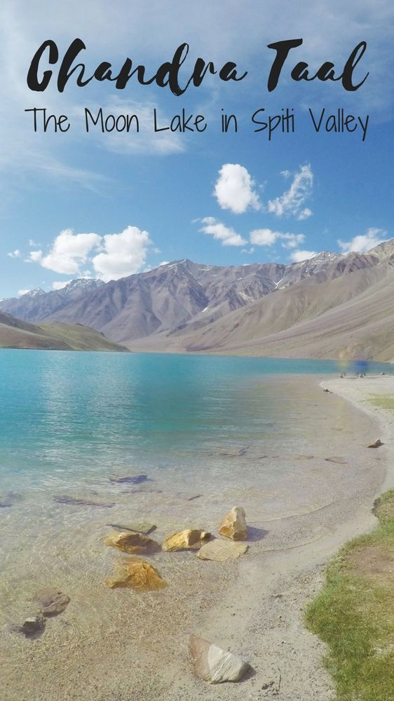 "Chandra Taal means ""the moon lake"" or the lake of the moon is in Spiti Valley, Himachal Pradesh, INDIA. This lake is in the middle of Spiti Valley's barren landscape."