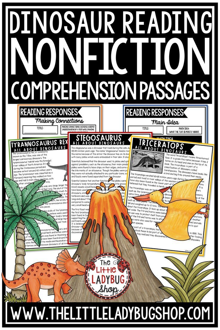 Grow Your Students Knowledge Of These Dinoaurs With The Nonfiction Reading Comprehensio Nonfiction Reading Comprehension Passage Reading Comprehension Passages [ 1104 x 736 Pixel ]