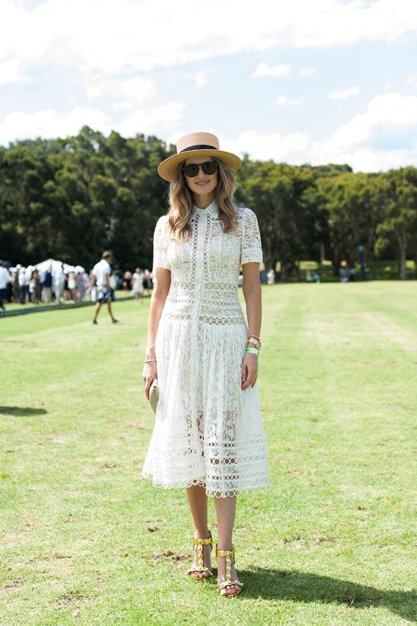 Spotted:Kate Waterhouse wears the Winsome Breeze Lace Dress from our Resort 17 Ready-to-Wear Collection while attending a Polo event in Sydney.The dress is now available instore and online.