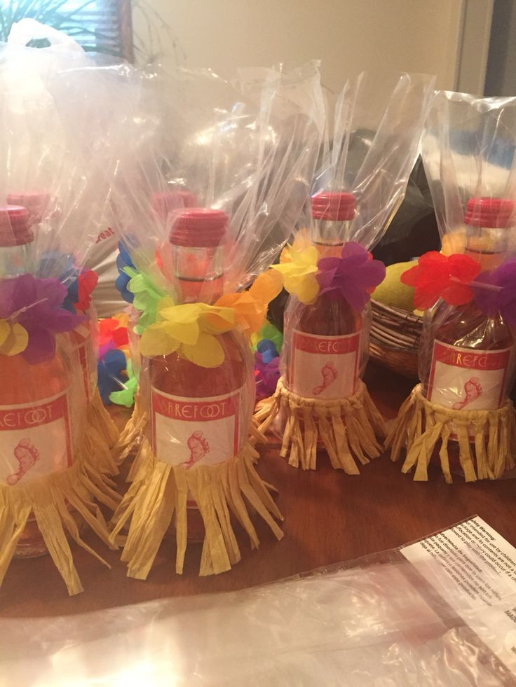 Prizes for Coed Luau themed Baby Shower