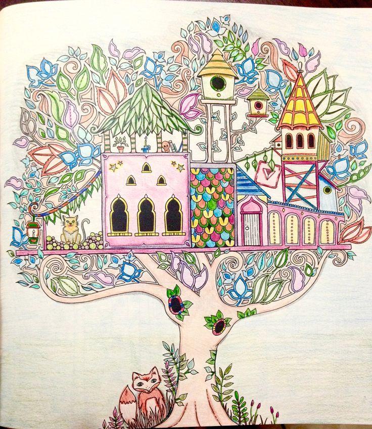 Floresta Encantada TreehousesJohanna BasfordColoring BooksForests Colouring