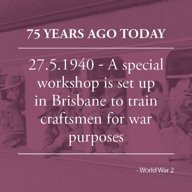 """It is suggested that a special workshop be set up in Brisbane to train more craftsmen for the war. The Townsville Daily Bulletin said the Commonwealth could count on """"Queensland's most strenuous effort to supply the maximum of skilled labour"""". With the necessary financial help, the state could also train the AIF's technical units."""