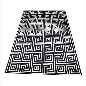 Trendy Rugs Indo-Nepal Black / White Nevsehir Rug
