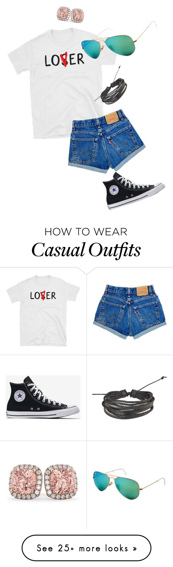 """Casual Summer"" by smaejohnson-1 on Polyvore featuring Ray-Ban, Allurez and Zodaca"