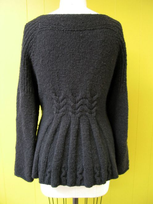 Cardigan, knit from the top down