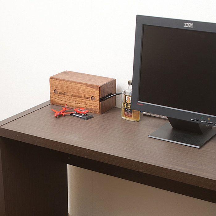 桐ケーブルボックスミニブラウン色電源コードを和風モダンな桐箱にスッキリ収納!