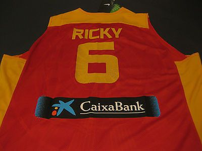 Nike #spain olympic basketball #jersey ricky 6 jordan kobe lebron kd bnwt #l-2xl,  View more on the LINK: http://www.zeppy.io/product/gb/2/152010407766/