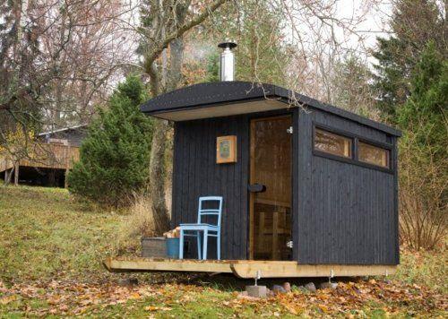 home float pool and sauna designs   Denizen Sauna, a Swedish prefab sauna designed for frozen lakes .