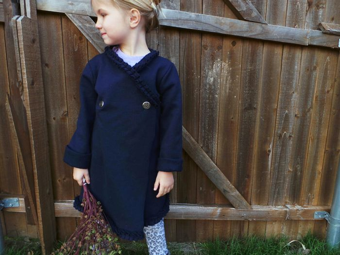 Upcycle an old sweatshirt into an adorable kimono style cardigan for kids. So easy! | See more about Kimono Cardigan, Kimonos and Old Sweatshirt.