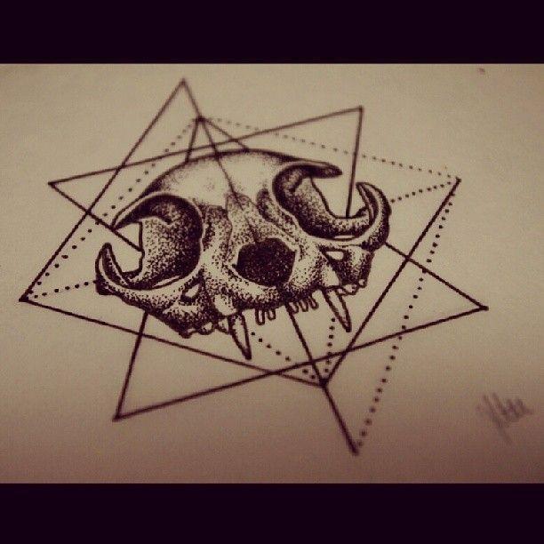 ... Cat Skull Tattoo on Pinterest   Skull Tattoos Tattoos and Cat Tattoos