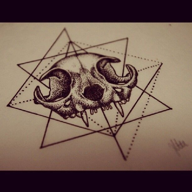 ... Cat Skull Tattoo on Pinterest | Skull Tattoos Tattoos and Cat Tattoos