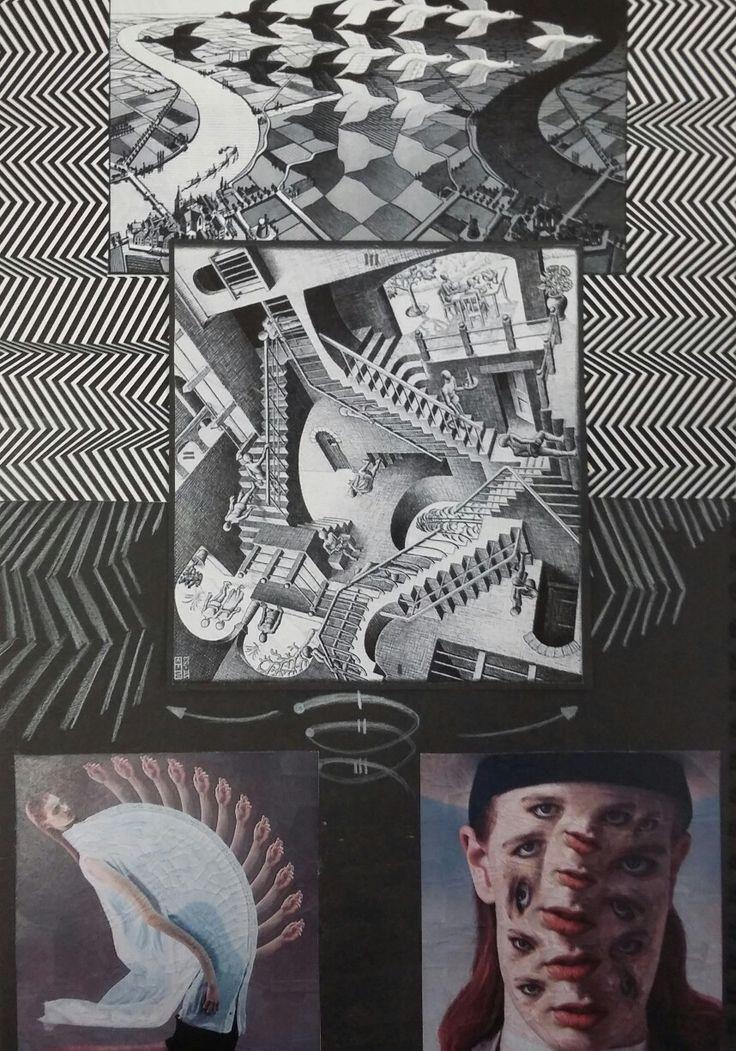 14th - Last Crazy Research : from top: M.C. Escher / M.C. Escher / Lola Dupre