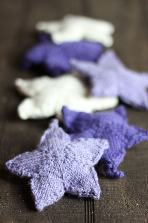 Knitted Purple Stars