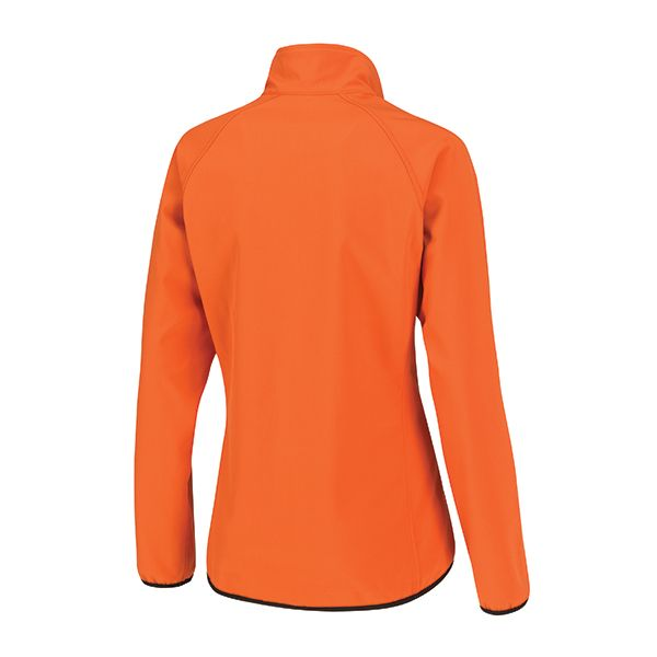 XD Comfort sustainable soft shell jacket, made of 86% recycled polyester and 14% Spandex. Inside layer made of 100% polyester brushed fleece, down free. Standard exchangeable zipper puller in black.