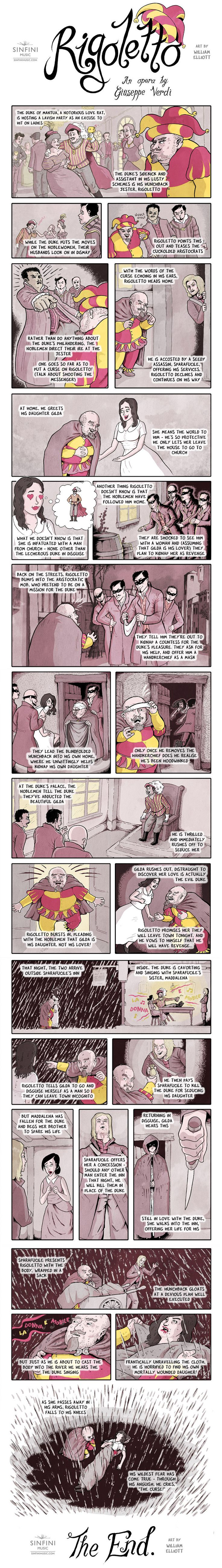Opera Strip Verdi's Rigoletto | Series | Features | Sinfini Music - Cutting Through Classical
